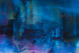 Dale Frank Why Narrandera is so interesting as a place to retire to, so many pubs and Banks for sale you could become the often spoken about royalty overnight (detail), 2021; Colour pigment in Easycast, Epoxyglass, on Perspex; 200 x 260 cm; enquire