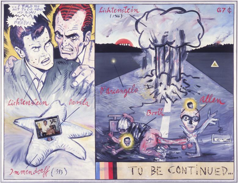 Juan Davila On Paranoia, 1983; 200 x 263 cm; enquire