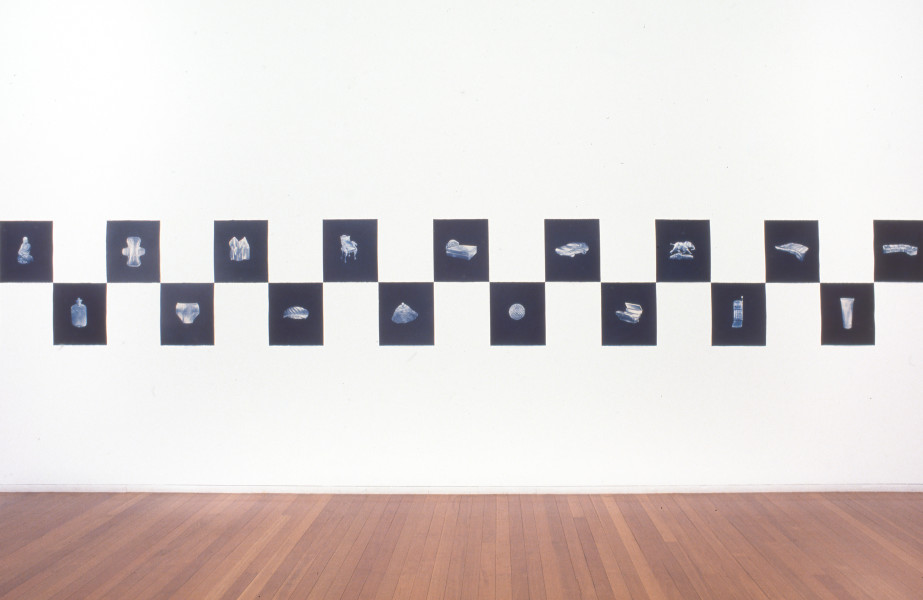 Fiona Hall Untitled from the Price is Right, 1994; cyanotypes; 43 x 38 cm; Edition of 100; enquire