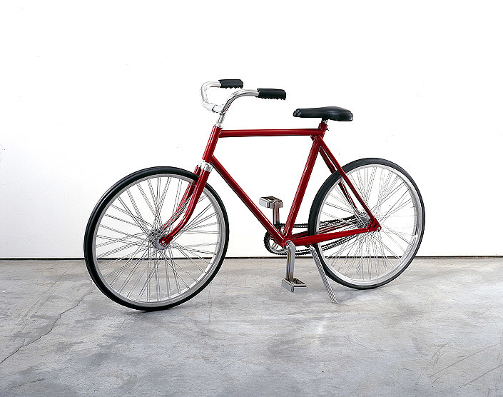James Angus Bicycles, 2007; Metal, rubber, paint; 108 x 54 x 182 cm; enquire