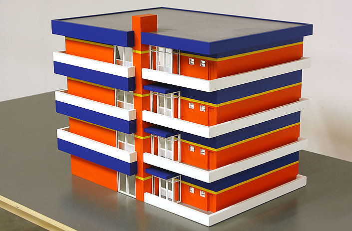 Callum Morton Apartment #1: Beau Block, 2007; wood, acrylic, synthetic polymer paint; enquire