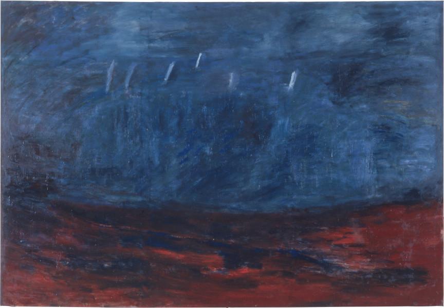 Kristine Rose Ta Taa I, 1987; oil on canvas; 244 x 168 cm; enquire