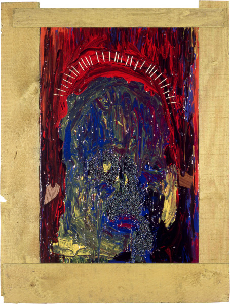 Dale Frank Self portrait with the nervousness, 1983; acrylic on canvas; 91 x 61 cm; enquire
