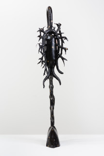 Caroline Rothwell Miss Jekyll (after K Blossfeldt), 2018; Hydrostone, canvas, epoxy glass, copper, aluminium; 110 x 38 x 38 cm; Enquire