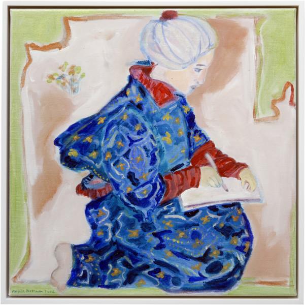 Angela Brennan Seated artist, 2006; acrylic on canvas; 41 x 41cm (unframed), 43 x 43cm (framed); enquire