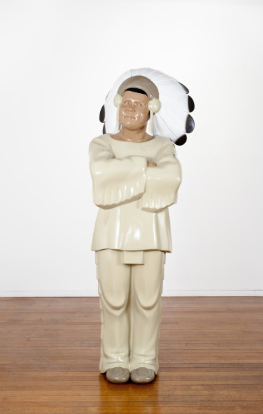 Michael Parekowhai The Brothers Grimm 2, 2009; automotive paint on fibreglass; 163 x 52 x 49 cm; enquire