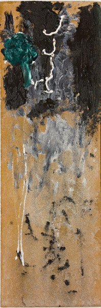 Tony Clark Panel from a Chinoiserie Screen, 1988; oil on canvas board; 70.5 x 23.5 cm; enquire