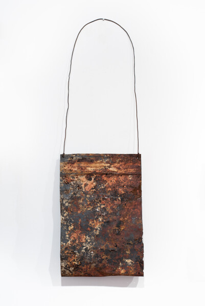 Lorraine Connelly-Northey Narrbong, 2019; CONNL - 0042; burnt steel, wire; 167 x 52 x 13 cm; enquire