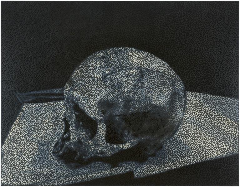 Daniel Boyd Untitled (TFABG), 2017; oil and archival glue on linen; 142.5 x 183 cm; enquire