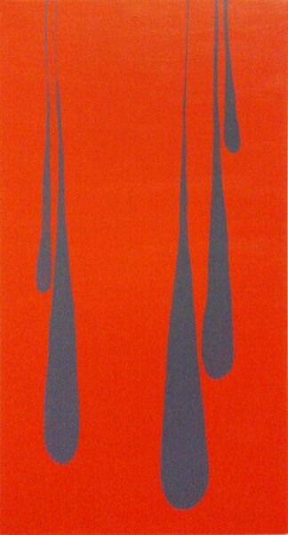 Nell Five Orange Drips, 2003; acrylic on canvas; 101.5 x 50.5 cm; enquire
