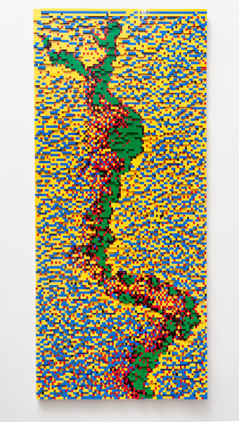 Claire Healy and Sean Cordeiro T+79_yellow, 2011; Lego; 144 x 97.5 x 3 cm; enquire