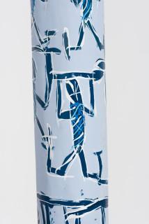 Dhambit Munuŋgurr Banumbirr (detail, 2021; 539-21; acrylic on eucalyptus; 395 x 25 x 25 cm; enquire