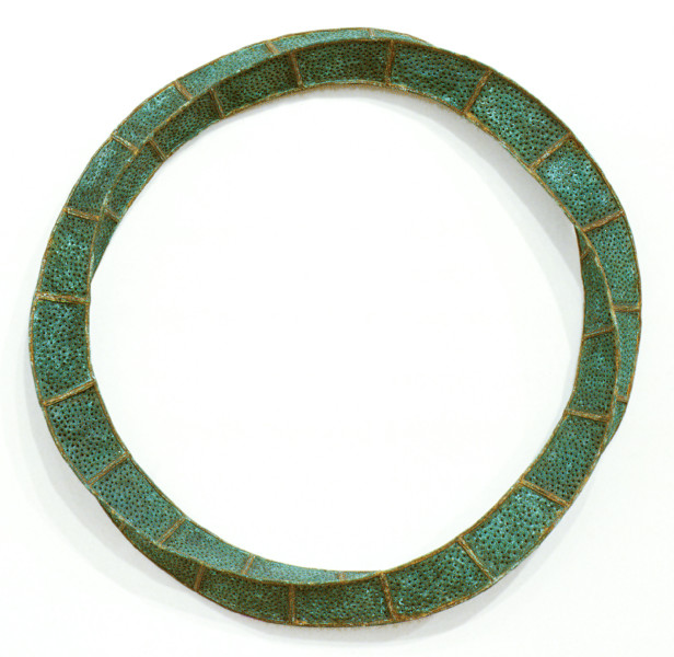 Bronwyn Oliver Halo, 1993; copper, iron; 75 x 30 x 25 cm; enquire