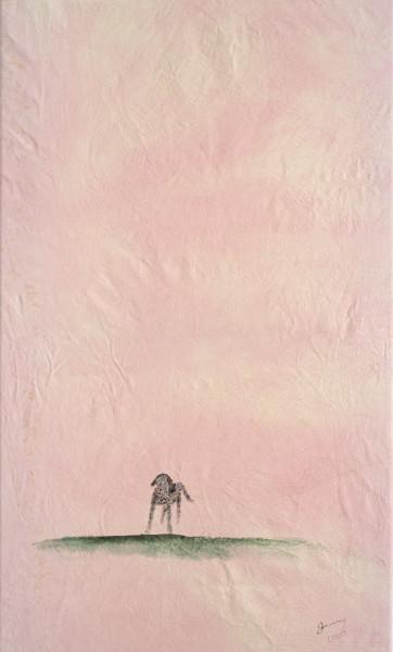 Jenny Watson Sam, 2001; oil on cotton, acrylic on canvas; 137 x 71.5 cm, 25 x 20 cm; enquire