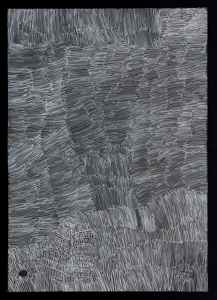 Nyapanyapa Yunupingu untitled, 2018; 5263-18; paint pen on clear acetate; 86 x 62 cm; enquire