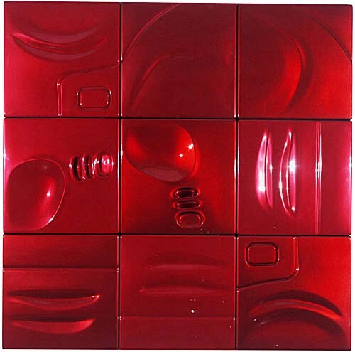 Patricia Piccinini Racey, 2002; ABS plastic and automotive paint; 150 x 150 x 5 cm; enquire