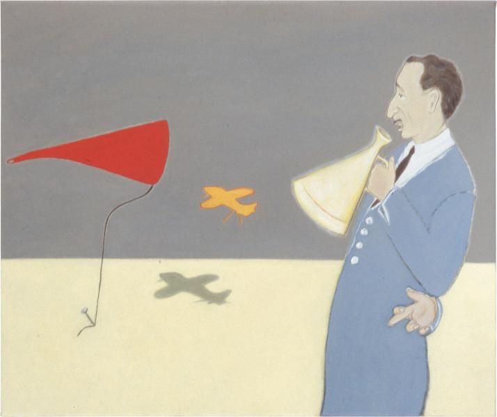 Vivienne Shark LeWitt My Echo, My Shadow, 1992; acrylic on linen; 51 x 60 cm; enquire
