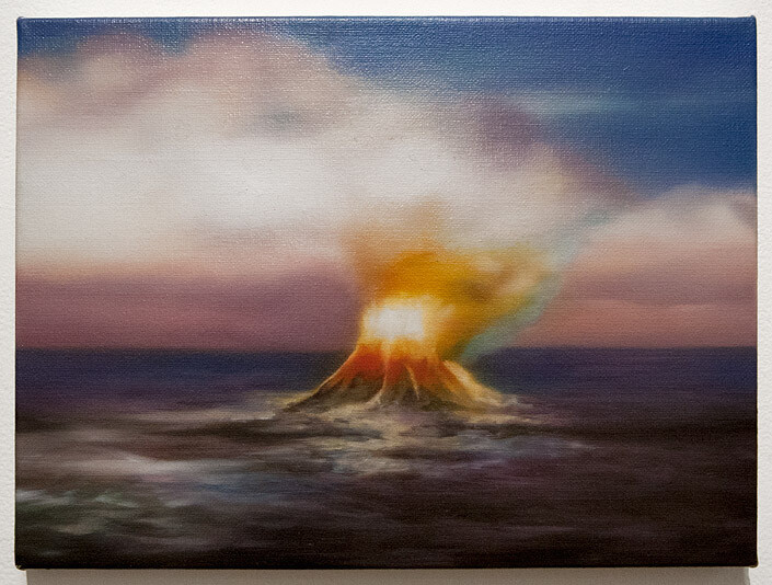 A Constructed World Fire on the water, 2005; oil on canvas; 27.5 x 38 cm; enquire