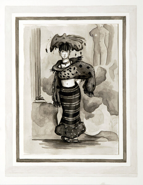 Linda Marrinon Untitled, 2005; watercolour on paper and mount board; 53 x 41 cm; enquire