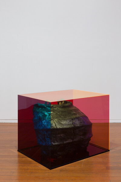 Mikala Dwyer Semi Caldron (witches 'n' britches, Melbourne), 2018; acrylic, wood, fabric, wire mesh; 70 x 90 x 70 cm; enquire