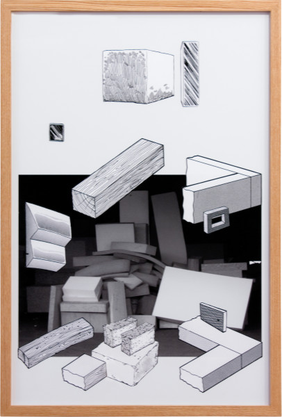 Teppei Kaneuji Games, Dance and the Constructions #7, 2011; collage on photograph; 92 x 62 cm; enquire