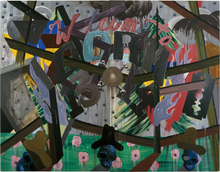 David Griggs Frat of the Obese 1, 2011; acrylic on canvas; 213 x 274 cm; Diptych; enquire