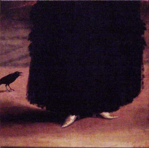 Anne Zahalka Untitled (bird), 2001; colour print on canvas; 36 x 36 cm; Edition of 10; enquire