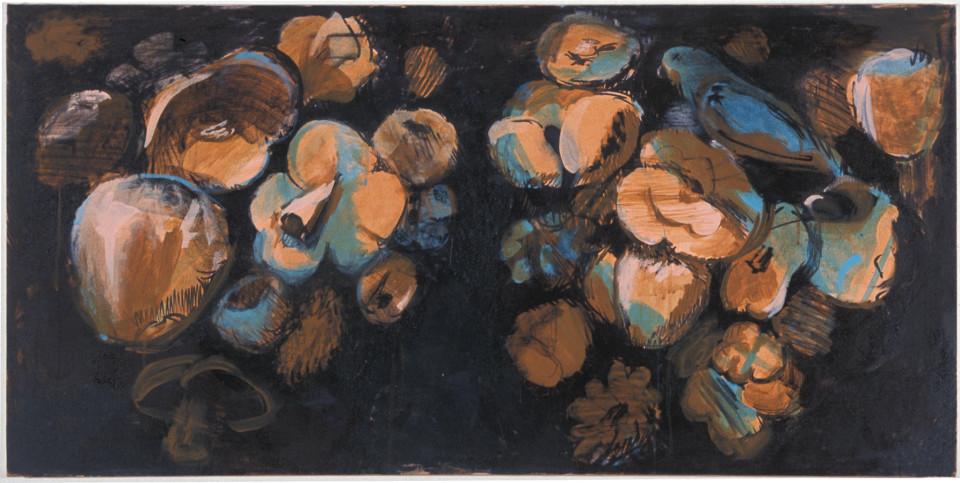 Tony Clark Flowerpiece with Daisy, 2003; acrylic on canvas; 61 x 122 cm; enquire