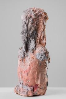Linda Marrinon Woman with striped top, 2020; plaster, hessian, foam; 50 x 26 x 16 cm; enquire