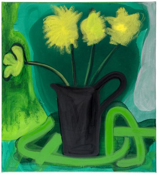 Angela Brennan Still life with a black jug, 2009; oil on linen; 66.5 x 60.5 cm; enquire