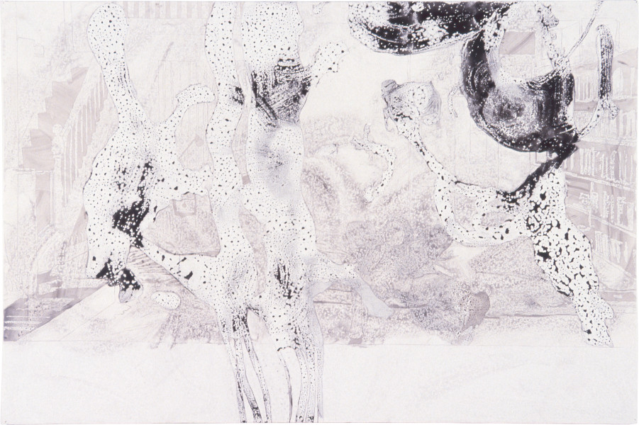 Sadie Murdoch Paradise Glossed #1, 1996; ink, detergent and gloss paint on foamcore; 100 x 153 cm; enquire