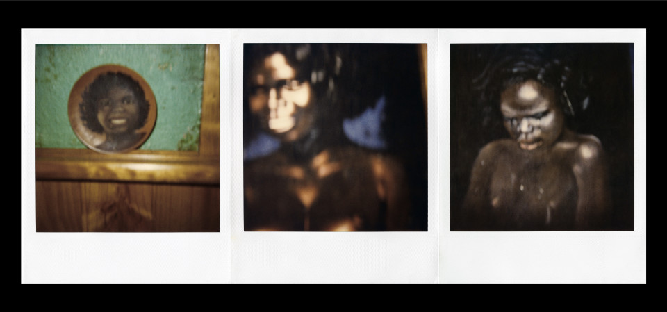 Destiny Deacon Blak lik mi, 1991-03; Light jet print from Polaroid original; 100 x 214.5 cm; Edition of 15; Enquire