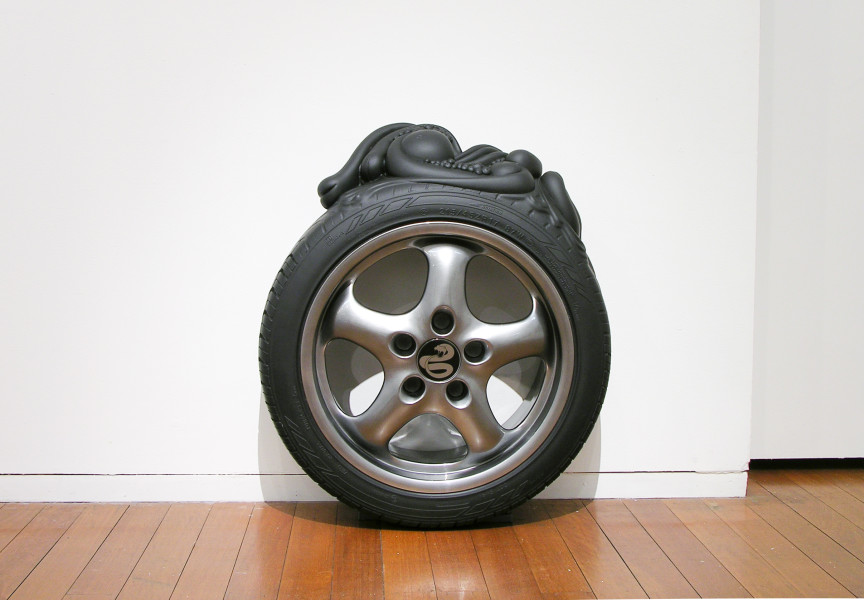 Patricia Piccinini Radial, 2005; fibreglass, automotive paint and stainless steel; 70 x 60 x 21 cm; Edition of 6 + AP 2; enquire