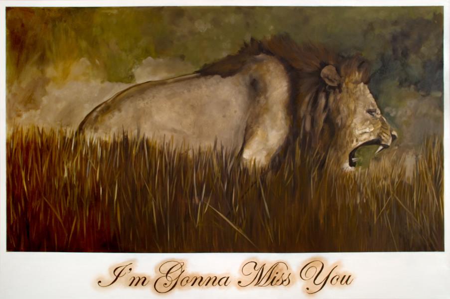 Daniel Boyd I'm Gonna Miss You, 2009; oil on canvas; 112 x 168 cm; enquire