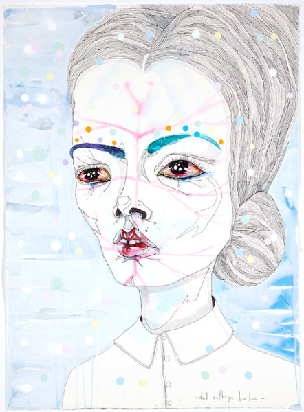 Del Kathryn Barton for this too, 2012; water colour, gouache and ink on hot pressed paper; 76 x 56cm paper size (82 x 62cm framed); enquire
