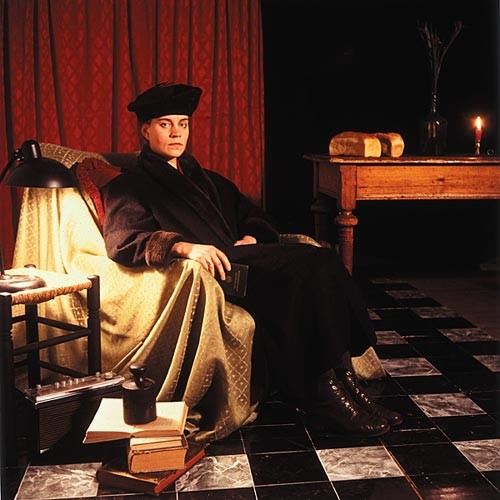 Anne Zahalka The German Woman (Ulriche Grossarth/artist), 1987; Ilfochrome print; 80 x 80 cm; Edition of 10; enquire