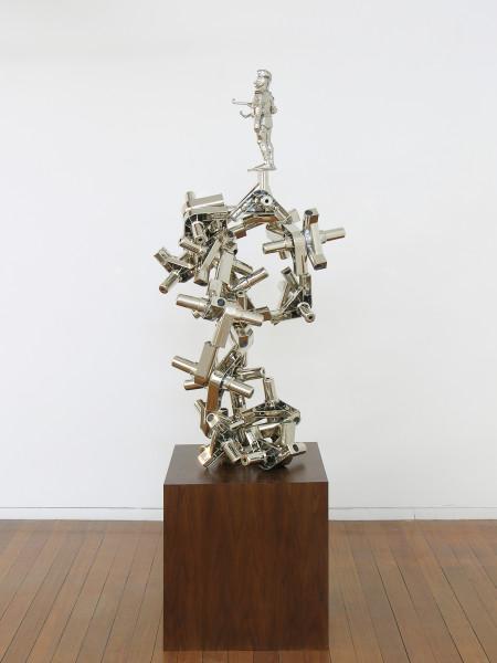 Hany Armanious Advocacy Group, 2006; polyurethane, polypropylene, copper, nickel plate, plinth; 138 x 55 x 66 cm; enquire