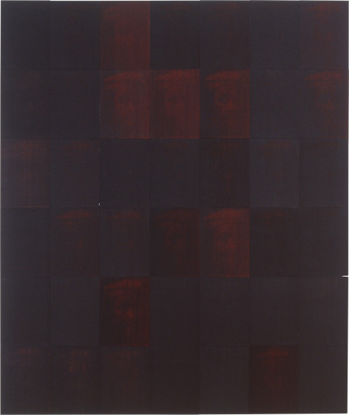 Lindy Lee Fortuity, 1991; photocopy and acrylic on stonehenge paper; 198 x 168 cm; enquire