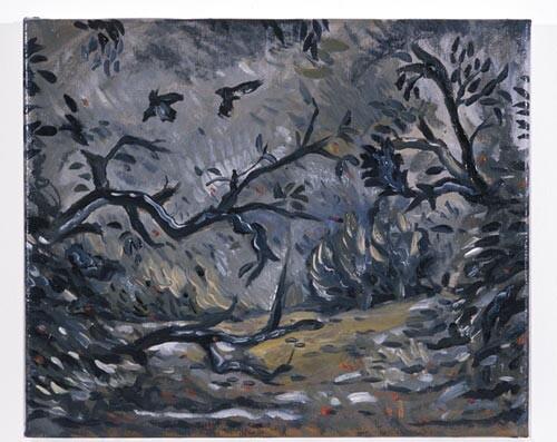 Linda Marrinon Bushfire at Night, 1996; Oil on canvas; enquire