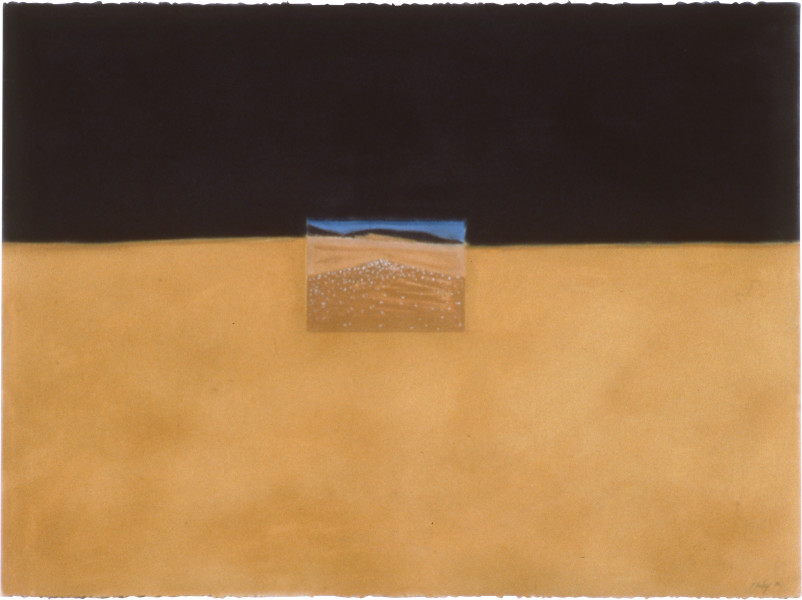 Fiona Foley Knife Blade Sandblow II, 1990; pastel on paper; 57 x 76.5 cm; enquire
