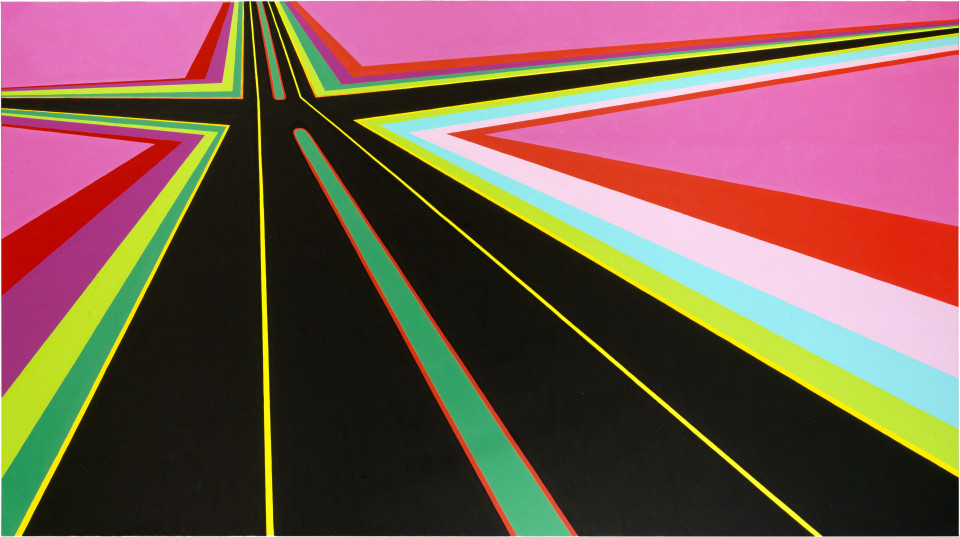 Dale Frank The Lost Highway, 2000; acrylic on linen; 260 x 200 cm; enquire