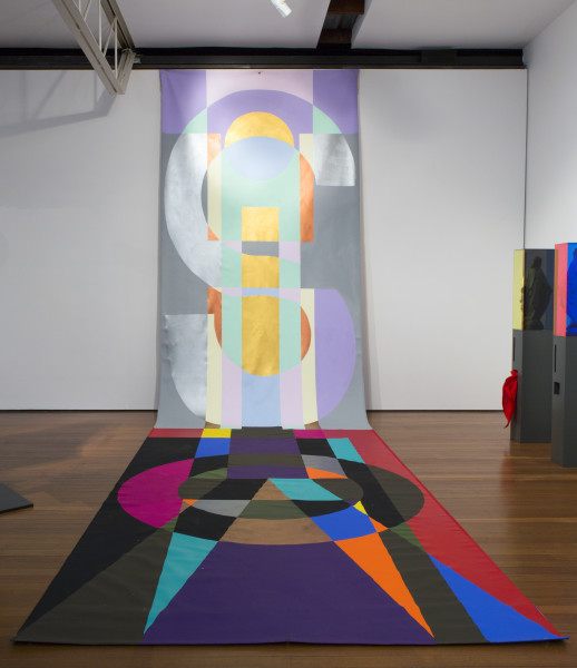 Mikala Dwyer Sigil for Heaven and Earth, 2015; Acrylic paint on canvas; 800 x 214 cm; enquire